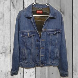 Vintage Wrangler Hero fleece lined denim jacket.